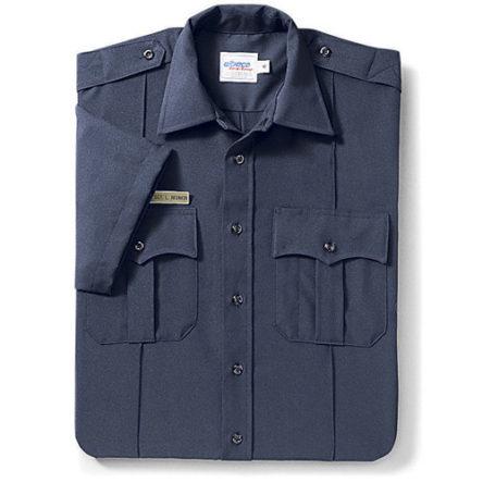 Elbeco Classic TexTrop Polyester Short Sleeve Zipper Shirt – NAVY