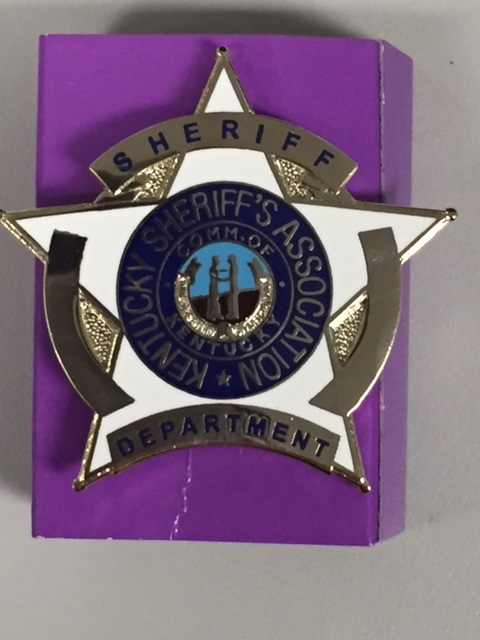 KY Sheriff Hat Badge - Clutch Back Attachment