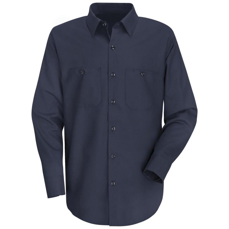 Red Kap Mens Wrinkle Resistant 100 Cotton Long Sleeve Work Shirt
